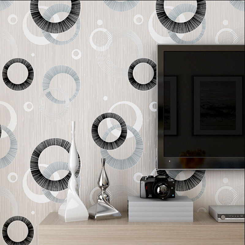 Modern luxury circle design wallpaper 3d stereoscopic for Home decor 3d wallpaper