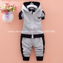 Brand Fashion Spring Autumn Children's Clothing Suits Kids Hoodies + Pants Children Sports Suit Boys Clothes Set Retail(China (Mainland))