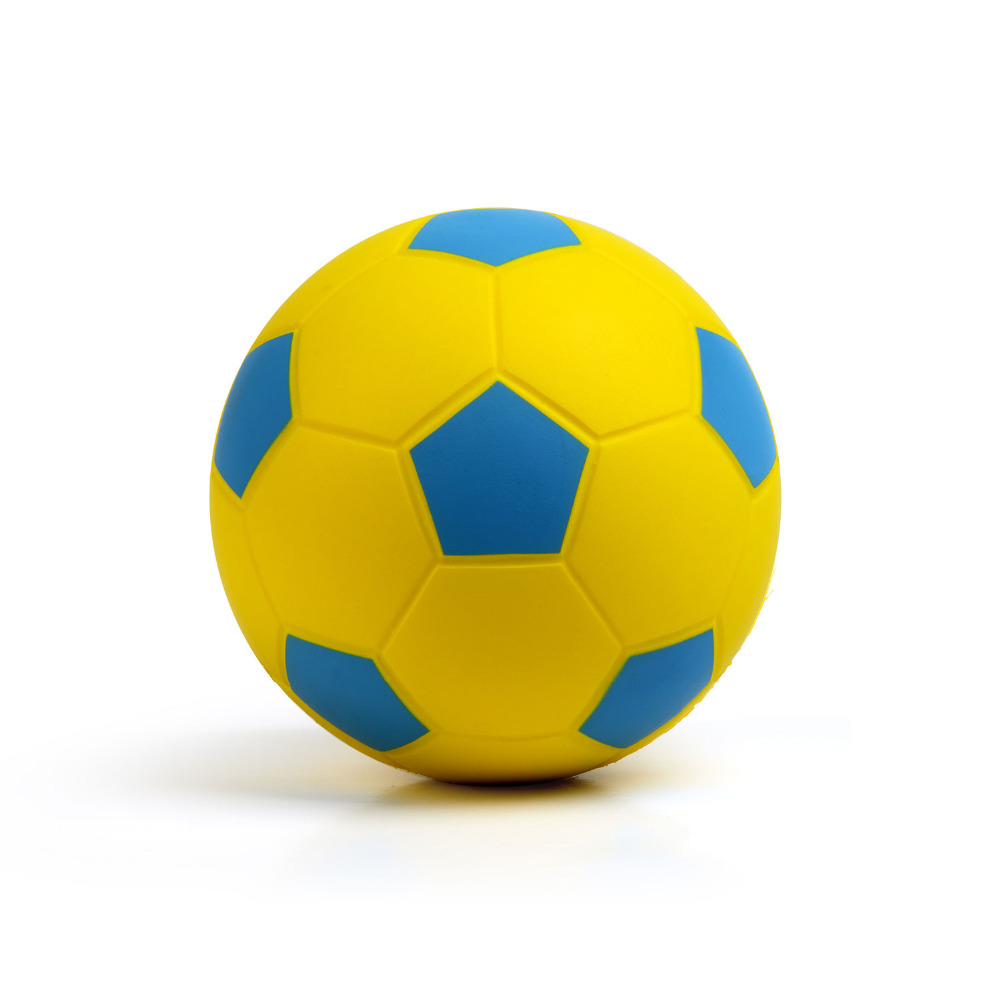 """Soccer Ball Size4 New Arrival Classic Training Soccer Ball Football Ball Size 4 High Quality PU Soccer Ball Yellow & Blue 8""""20cm(China (Mainland))"""