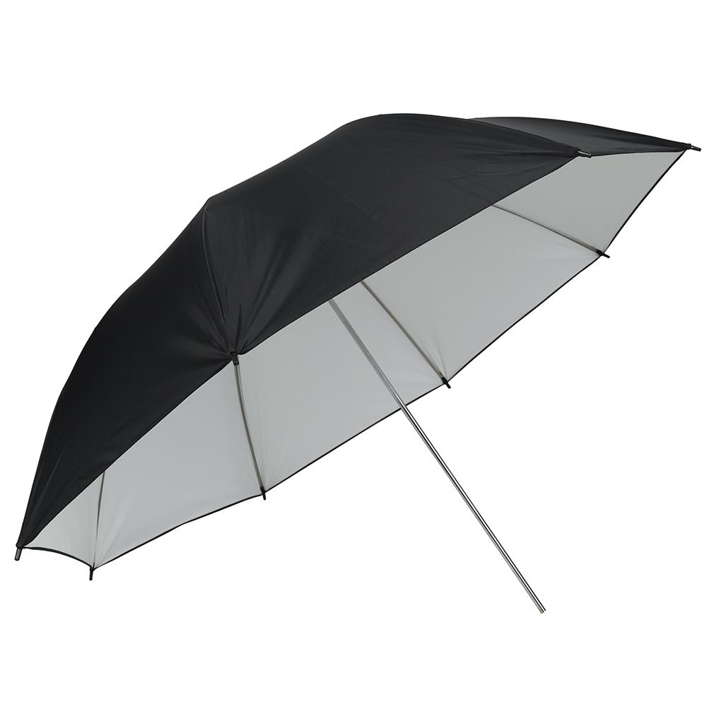 43 109cm Studio Umbrella Black White Rubber Cloth Stainless Steel Photography Reflective Umbrella Photo Studio Accessories