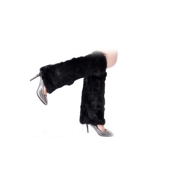 Новинка зимние женщин искусственная шерсть мода согреться рукав пушистый