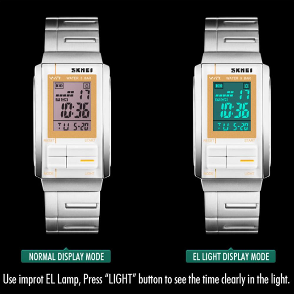 Skmei Пару Часов ПК Полосы Моды Цифровые Часы