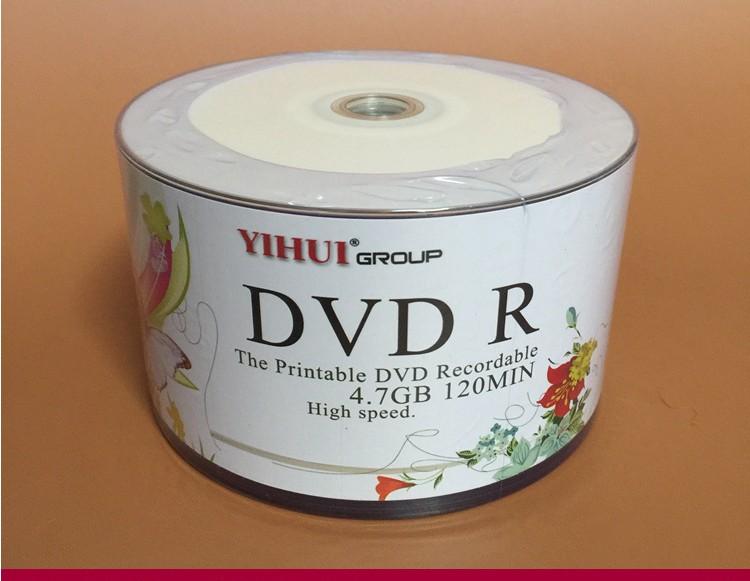 Wholesale 10 discs A+ Yihui 16x 4.7 GB Blank Printable DVD R(China (Mainland))