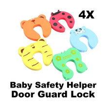Free Shipping Baby Helper Door Stop Finger Pinch Guard Lock 4pcs