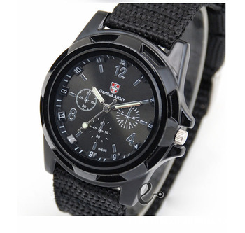 Drop Shipping New Fashion Soldier Military Quartz Canvas Strap Fabric Watch Men Outdoor Sports Watches Male Casual - Tony Romantic store