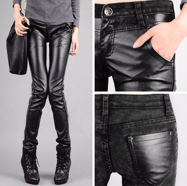 Lastest Women39s Slim Fit Black Leather Pants
