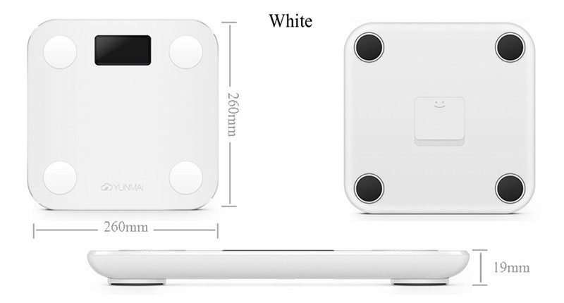 image for Original YUNMAI MINI Smart Scale Support Android IOS Bluetooth 4.0 Los