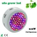 72pcs High Power Full Spectrum 216W UFO Led Grow Light for plants Flowering lighting 42Red 12Blue