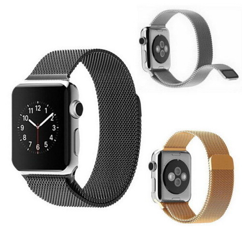 Luxury Magnetic closure Milanese Loop Stainless Steel Watch band Strap Apple size 38mm - EPARK668 store