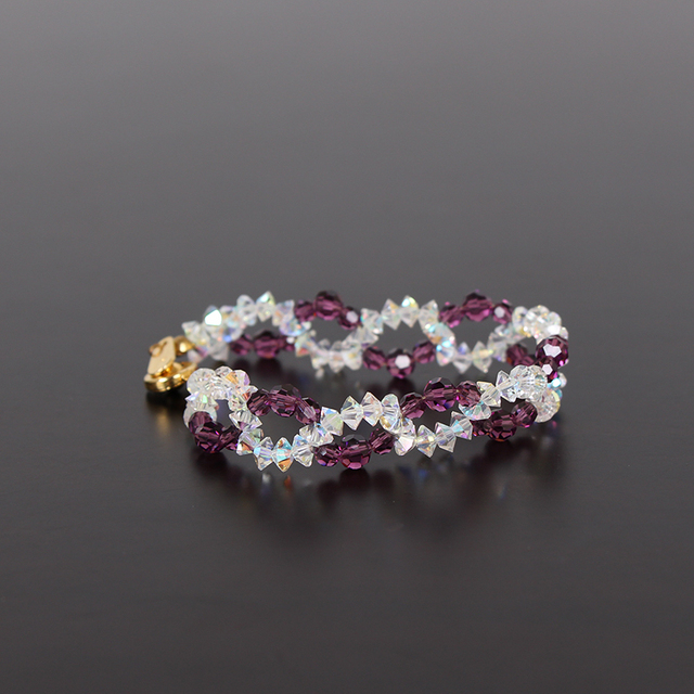 2013 new retro fashion colorful crystal bracelet Austrian crystal amethyst Valentine's Day present for his girlfriend