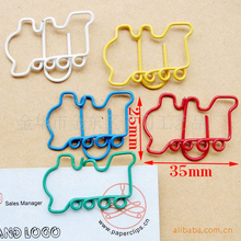 Creative gifts, cute cartoon train modeling paper clips, photo clip paper clips, stationery gifts student bookmark.(China (Mainland))