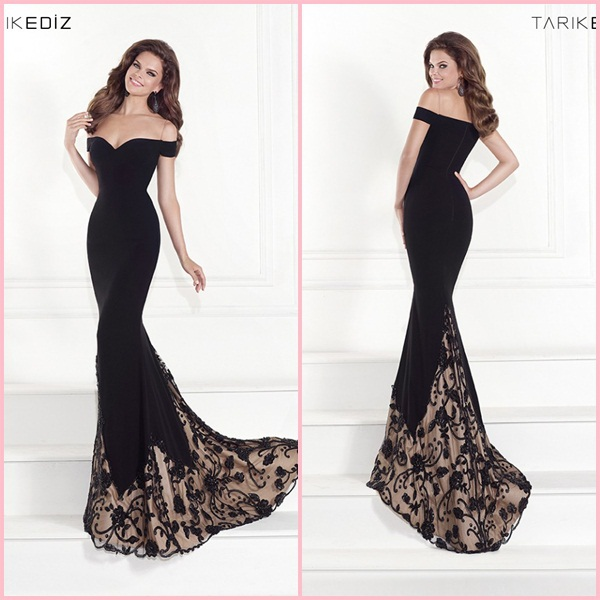 Vestido negro largo para boda de noche – Vestidos de moda de esta ...
