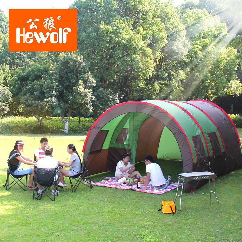 2015 New arrival ultralarge 1Hall 2room 6-8 person camping beach family party tent<br><br>Aliexpress