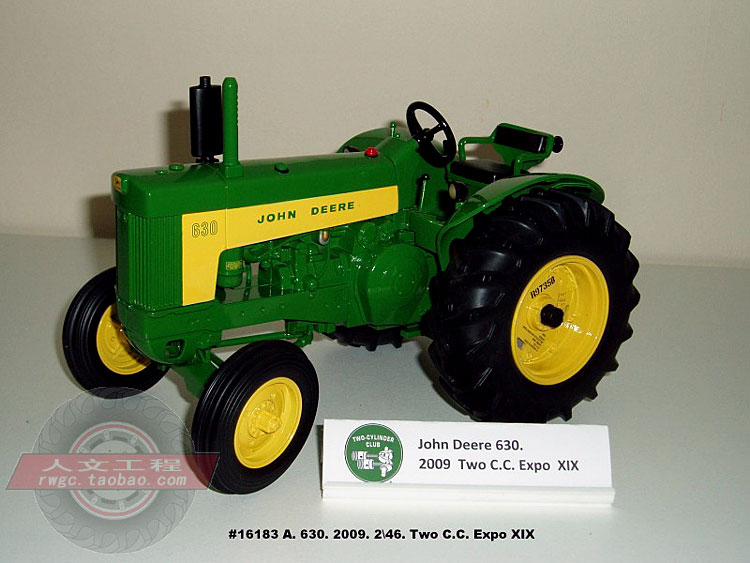 Deere 630 tractor Expo commemorative reward automotive mannequin alloy Farm Safety Act ERTL 1:16