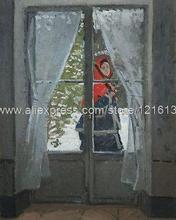 claude monet die rotes tuch Porträt von Madame monet hand bemalte leinwand art photo für bild Wohnzimmerwand eindruck(China (Mainland))