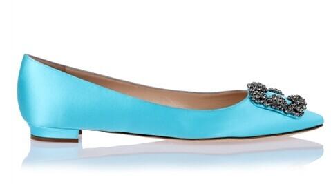 Маленький большой размер 33.34.40.41.42.43 классический женщины алмаз квадратные пряжки атласные плоские туфли сексуальные острым носом обувь одного