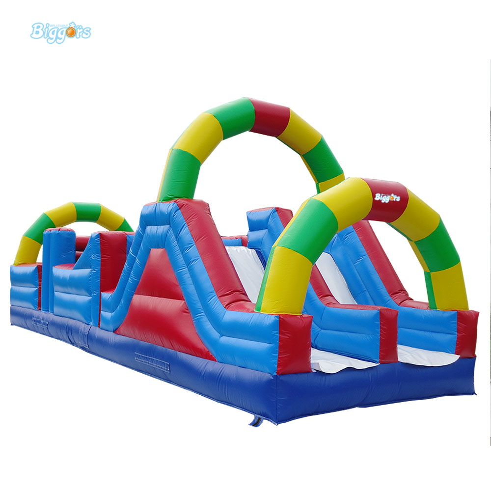 Sea Free Delivery Inflatable Mattress Obstacle Course With Sliding And Bouncing Area For Rental(China (Mainland))