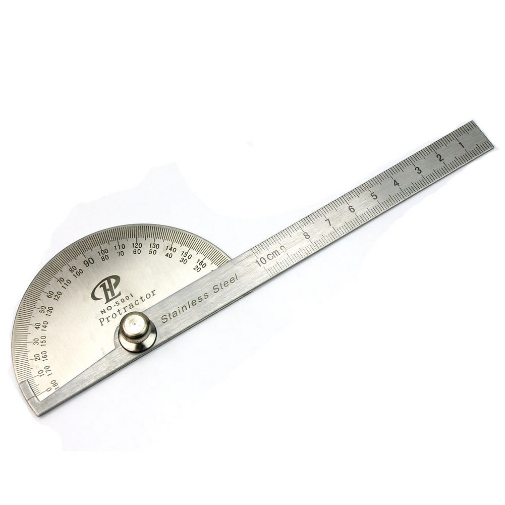 High Quality Metal Steel Round Head 0-180 Degree Protractor Angle Ruler Measuring Tool Patchwork Ruler School Drafting Supplies(China (Mainland))