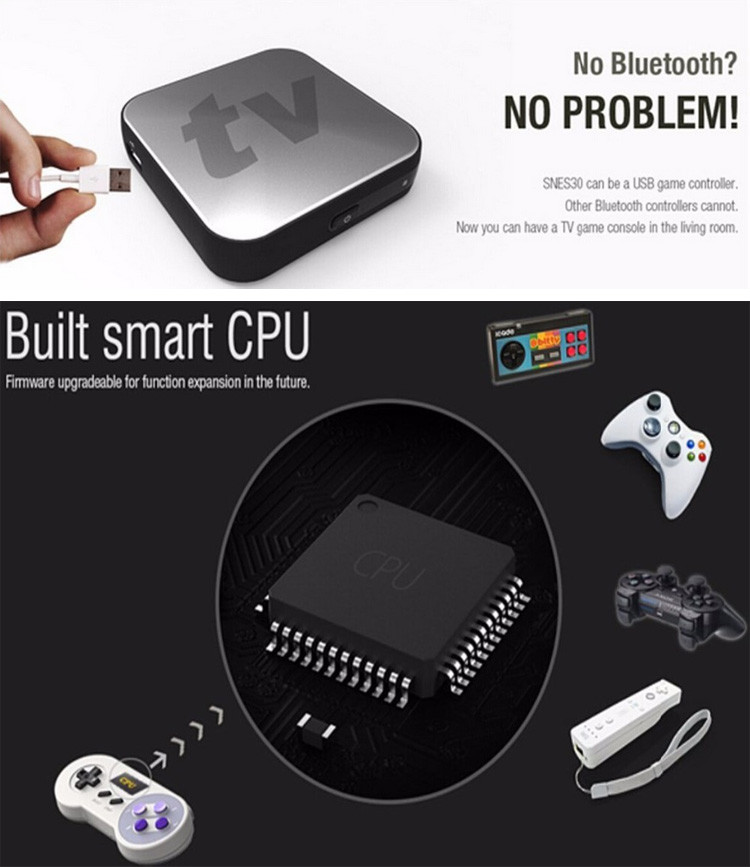 image for 8Bitdo SNES30 Wireless Bluetooth Gamepad Game Controller For IOS Andro
