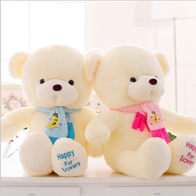 Birthday Valentines Gift Scarf Baby Bear Wedding Plush Toy High Quality Teddy Bear Doll 2 Colors Size 30cm gift Home Decoration