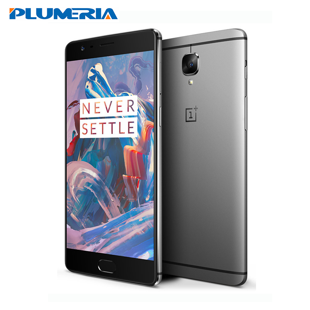 "New Original Oneplus 3 6GB RAM 64GB ROM Snapdragon 820 Quad Core 5.5"" HD Android 6.0 LTE Fingerprint Oneplus Three Mobile Phones(China (Mainland))"