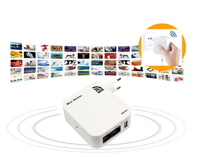 New Mini 150Mbps Wireless-N WiFi AP Repeater Router Wlan With USB Tonsee(China (Mainland))