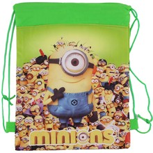 New Style Despicable Me&Minions Kids Cartoon Drawstring Bag Children Backpacks Cute School Bags Mochila Infantil For Gift&Bag(China (Mainland))