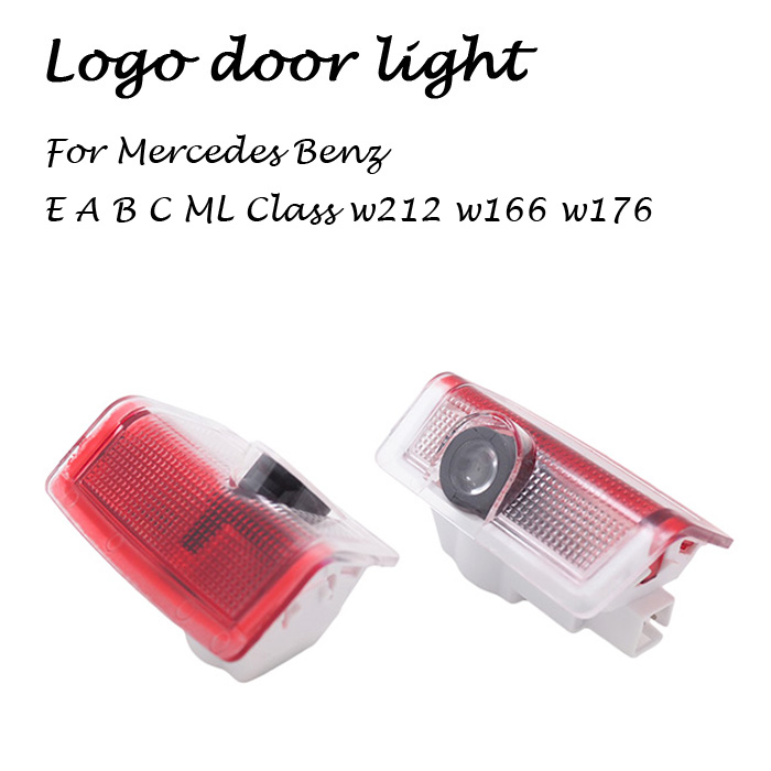2 LED Car door courtesy laser projector Logo Ghost Shadow Light FOR Mercedes-Benz E B C ML Class w212 w166 w176  -  Ali_Auto Part store