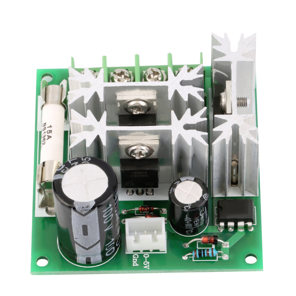 image for New DC 6V-90V 15A DC Motor Speed Control PWM Switch Controller 1000W W
