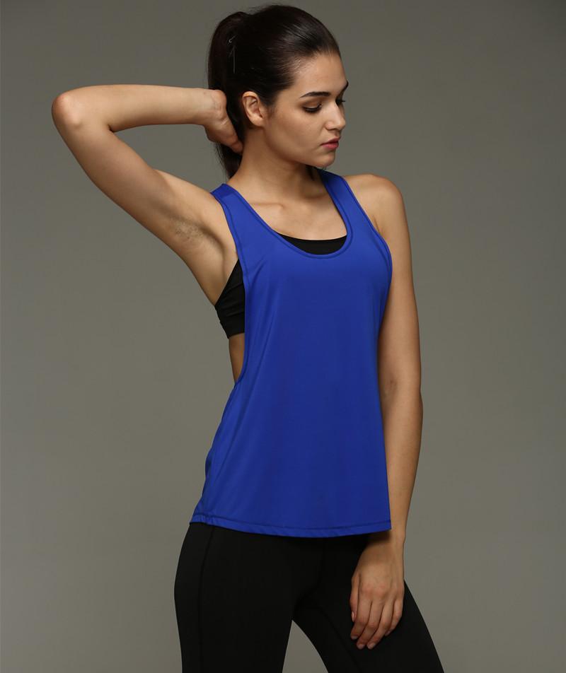 Vest Summer Women Tank Tops Sleeveless Vest Dry Quick  Loose Singlet Solid Color