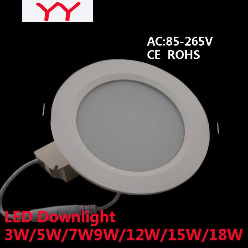 Led Downlight 3W5W7W9W12W15W18W21W24W85-265VLED Ceiling Downlight 5730 Lamps Led Ceiling Lamp Home Indoor Lighting Free shipping(China (Mainland))
