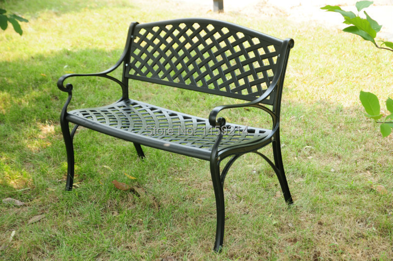 Double chair Balcony outdoor furniture Park garden bench(China (Mainland))