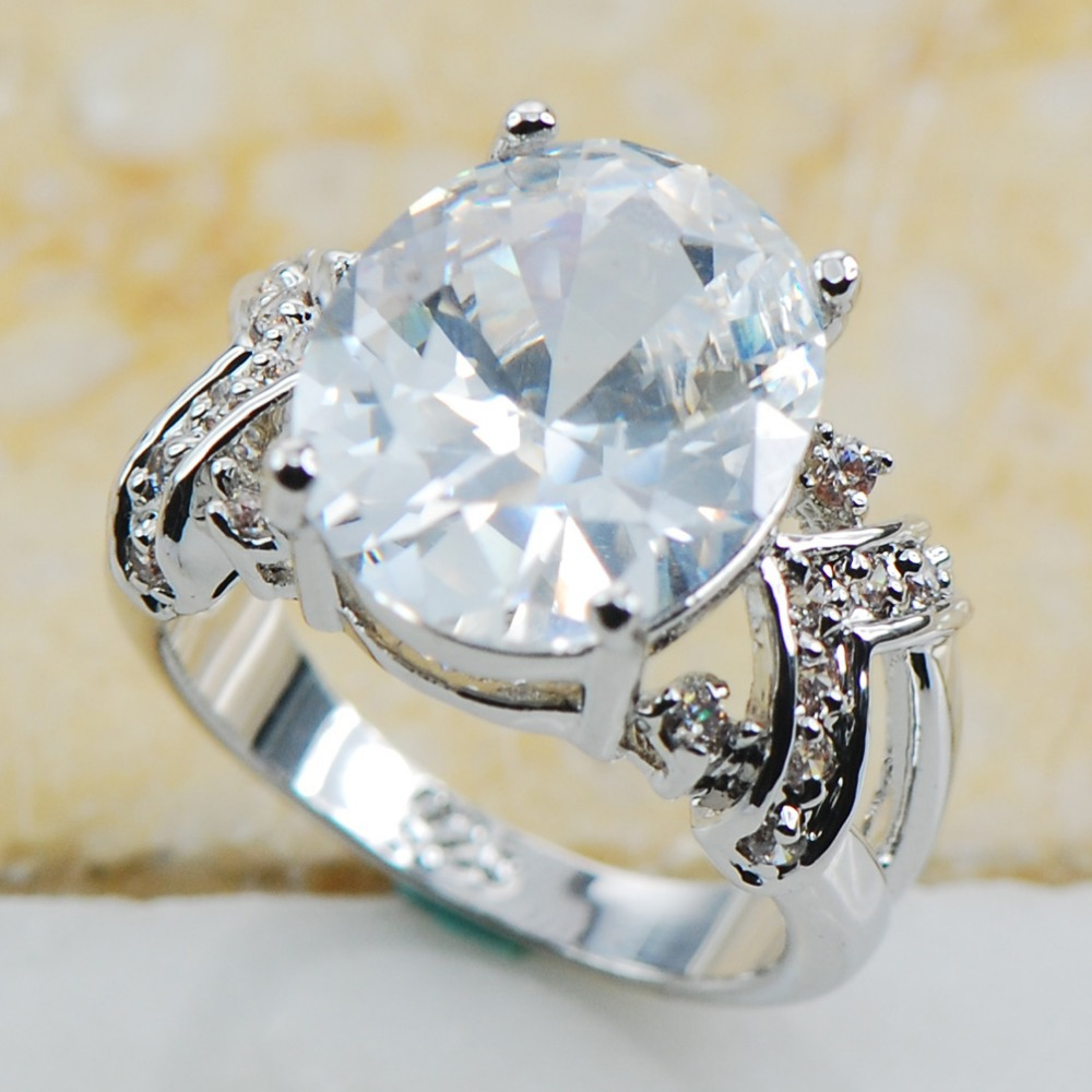 White sapphire 925 sterling silver top quality fancy for Best quality wedding rings