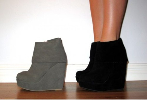 soft suede ankle boots wedge ankle boot bootie