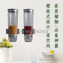 Free Shipping Wall Mounted Cereal Dispenser Food Storage Bottle Food Dispenser distributeur de cereales(China (Mainland))