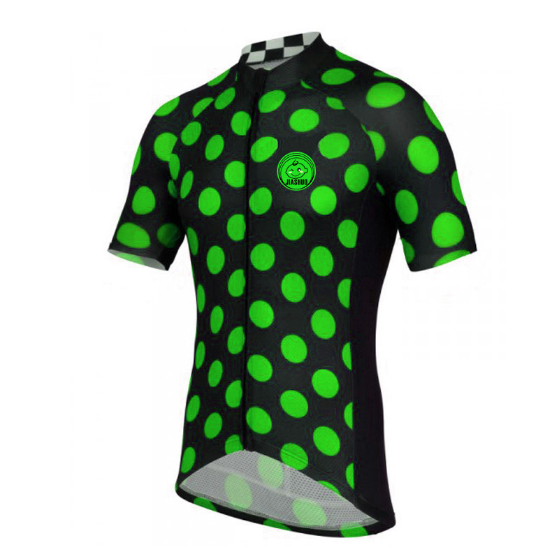 NEW men's green jersey jerseys sleeve cycling clothing Cycling Tours wear Cozy Breathable(China (Mainland))