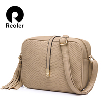 Realer Designers Retro Female Minimalist Crossbody Bag Small Women Shoulder Bag Tassel Women Messenger Bag(China (Mainland))