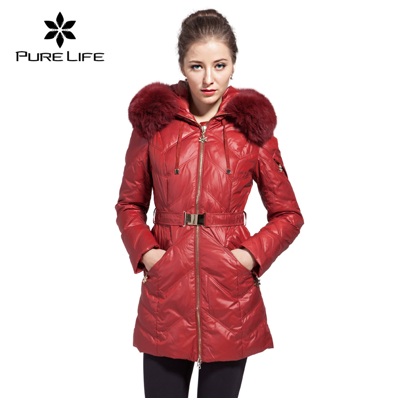 Pure Life 2016 With Fur Hood Hot Sale Winter Coat Women's Parka Jacket Warm Cotton Down Parkas Outwear AY329(China (Mainland))