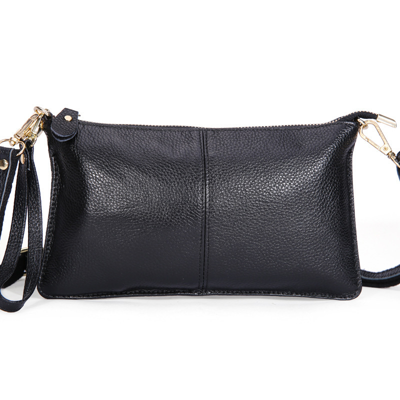 11Colors 100% Real Skin Clutch Women GENUINE LEATHER Handbag Shoulder Bag Calfskin Messenger Bags Fashion for Girl Free Shipping(China (Mainland))