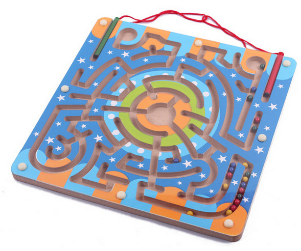 Magnetic Maze Game Wooden Educational Toys for Children WJ-084(China (Mainland))