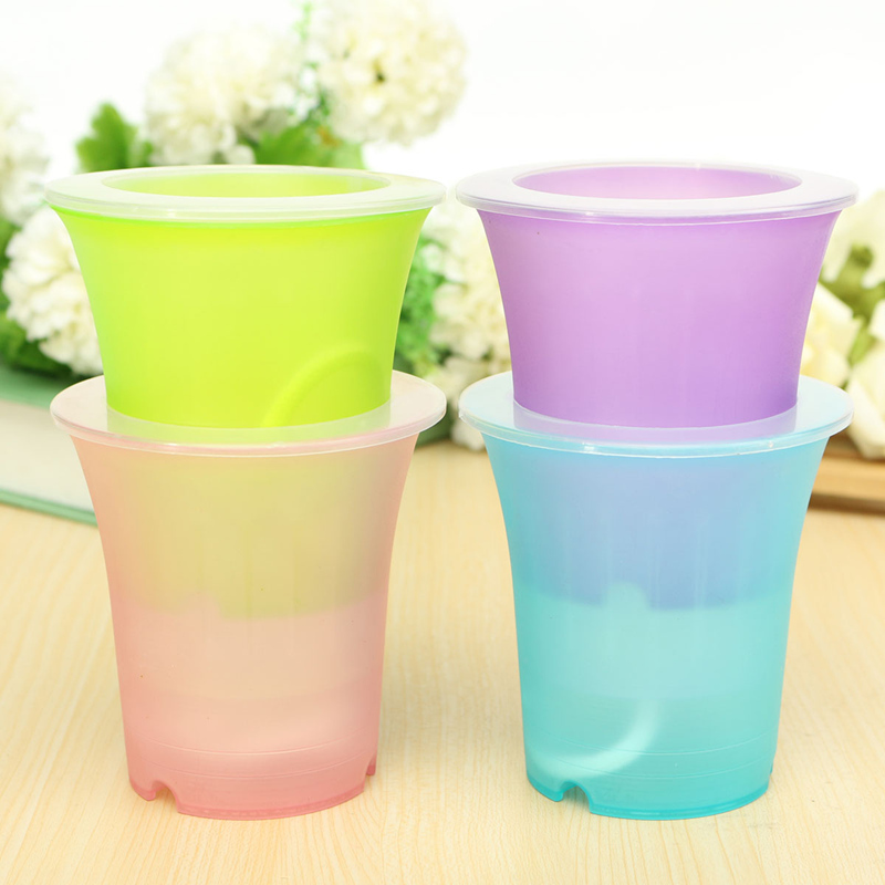 Buy Flower Pots Plastic Matte Surface Automatic Watering Col
