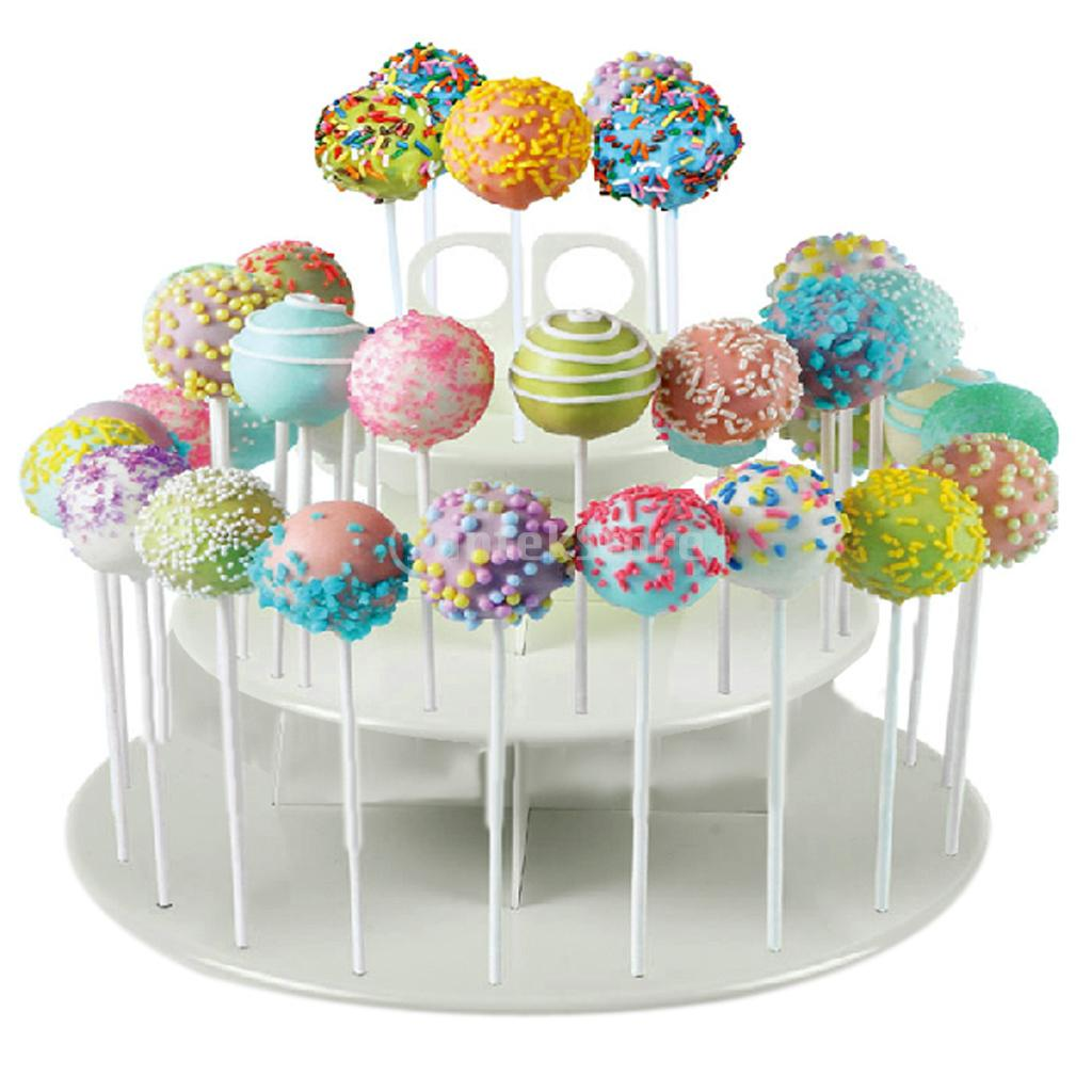 3-Tier 42 Holes Plastics Cake Pop Lollipop Cupcake Display Stand(China (Mainland))