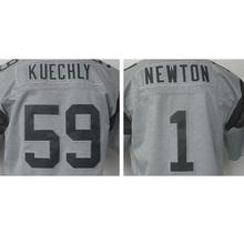 Cheap Men's 1# Cam Newton High quality #59 Luke Kuechly 100% Stitched Logos Gray Gridiron Gray Limited Jersey Free shipping(China (Mainland))