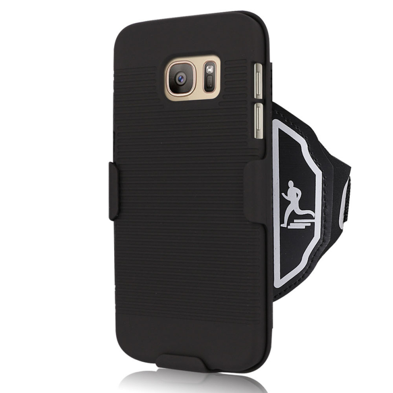 Hot-sale Black Phone Armband Protector Sports Armband Pouch Arm Wrist Band Strap Case Cover Holder For Samsung Galaxy S7(China (Mainland))