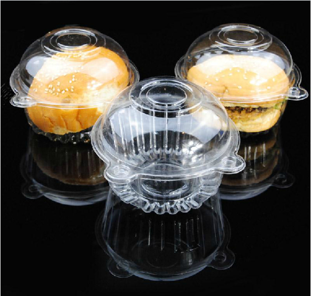 50pcs Individual Clear Plastic Single Cupcake Muffin Case Pods Domes Cup Cake Boxes(China (Mainland))