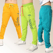 2016 Spring Baby Kids Casual Pants Boys Elastic Waist Long Pants Children Sport Pants Trousers With Pockets(China (Mainland))