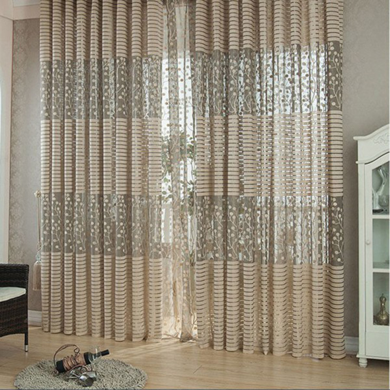 2016 Hot Sale Jacquard Warp Knitting Curtains for Window for Living Room The Sun-shading Curtain for Kitchen Decor(China (Mainland))