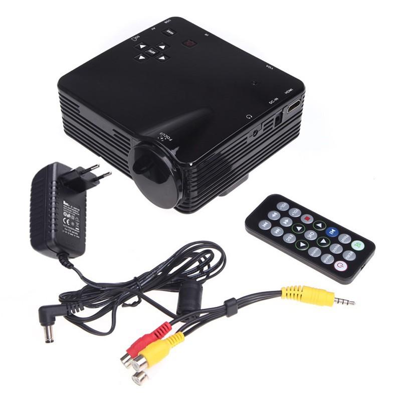 Home Cinema Theater Multimedia LED LCD Projector HD 1080P PC AV TV VGA USB HDMI H80 1920 x 1080<br><br>Aliexpress