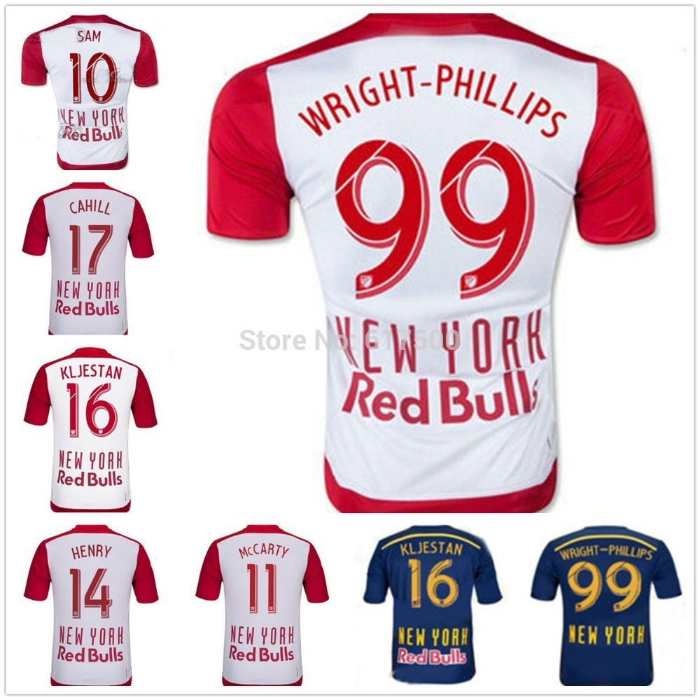 Red Bull Can Logo 2015 York Red Jersey Soccer