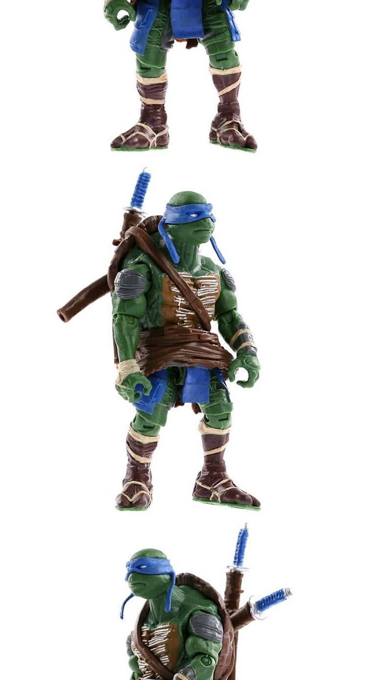 6X Lot TMNT Teenage Mutant Ninja Turtles Action Figures Anime Movie Gift US POST